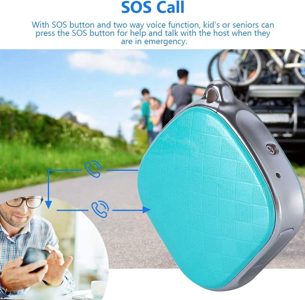 WiFi LBS Real Time Global Universal Tracker Locator with SOS Button and Voice Monitor Function Mini Necklace Tracker,GPS AGPS