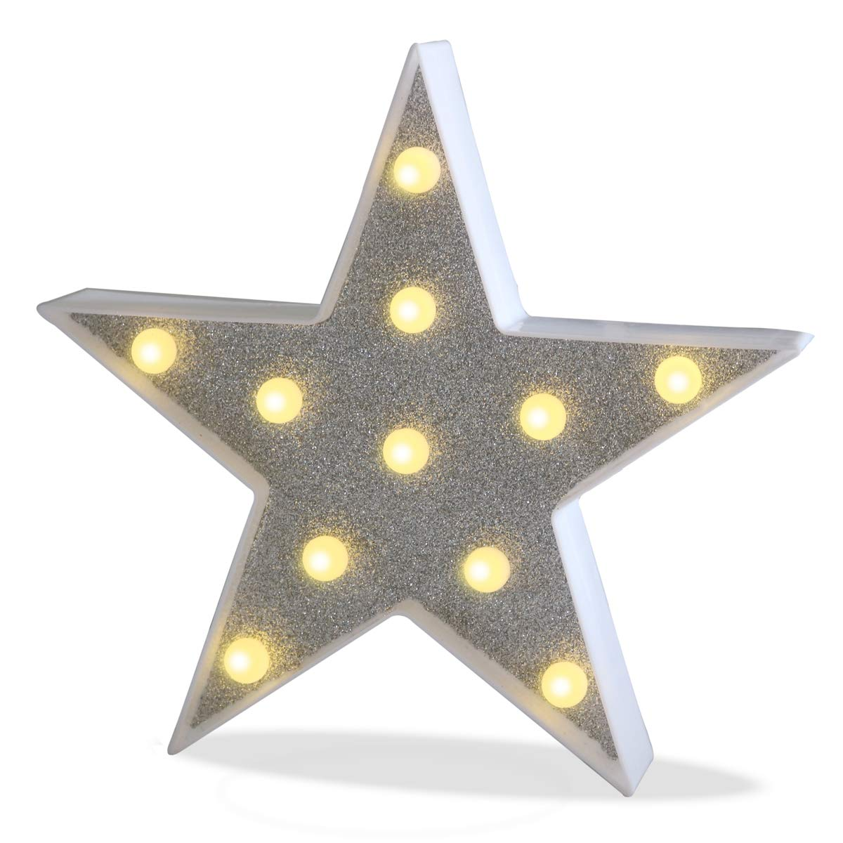 Buy Pooqla Delicore Marquee Light Star Shaped Led Plastic Sign Lighted Marquee Star Sign Wall Decor Battery Operated Giltter Shining Star Online At Low Prices In India Amazon In
