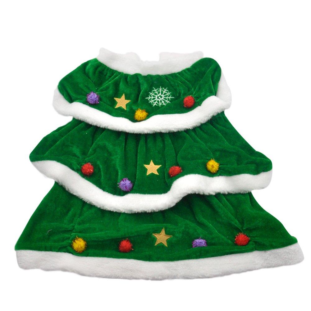 Pet Cuisine Dog Winter Costume Christmas Tree Design Cloth Warm And
