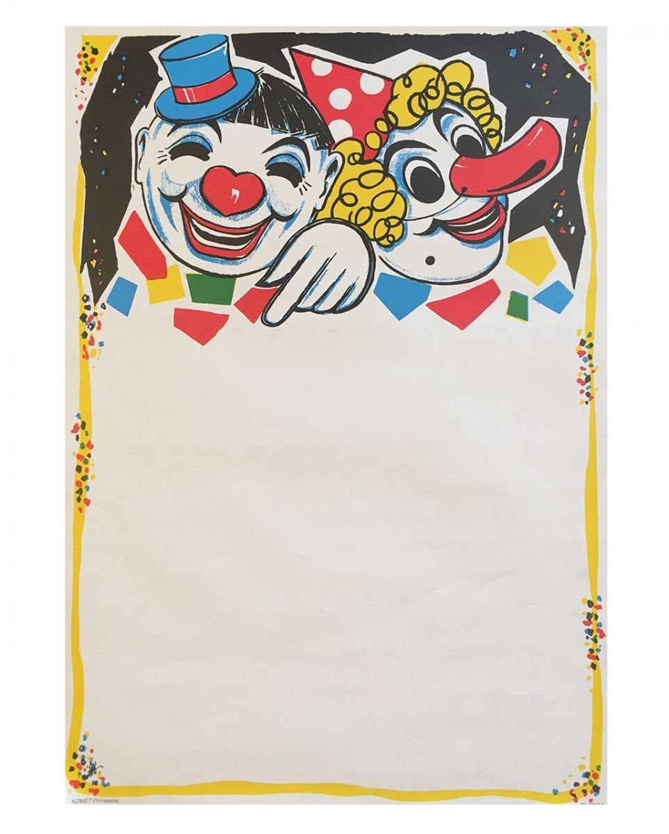 Horror-Shop Carnival posters Clown Duo 6 pieces