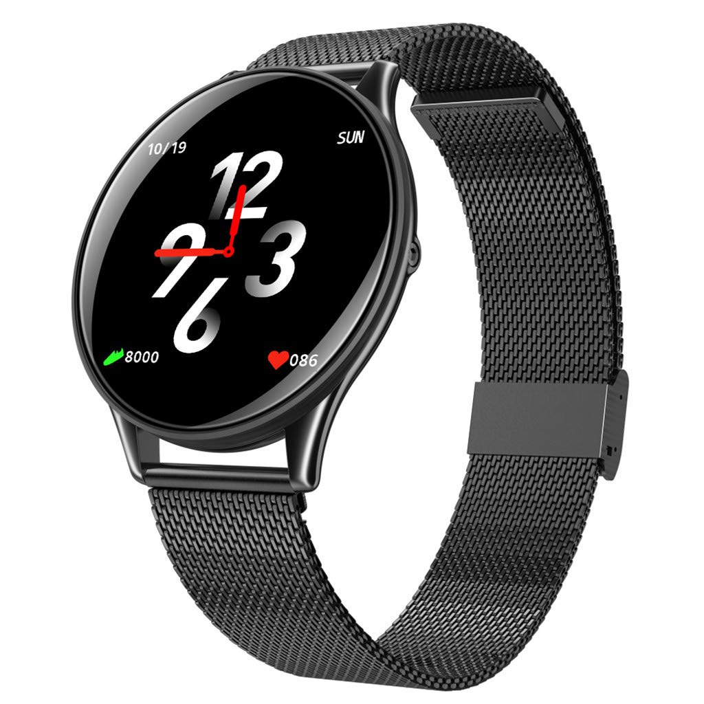 Opef Fitness Tracker HR, Activity Tracker Watch with Heart Rate Monitor, Water Resistant Smart Bracelet with Calorie Counter Pedometer Watch for Android and iOS (Black) by Opef