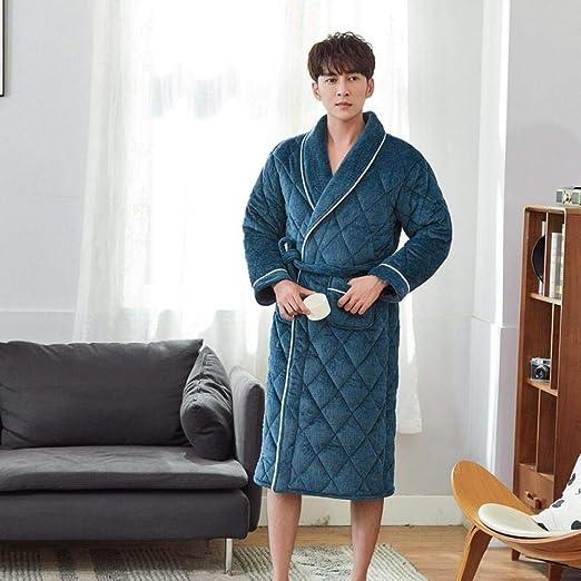 WTFYSYN Bata de casa para Mujer Bata de baño,Pijama Acolchado para ...