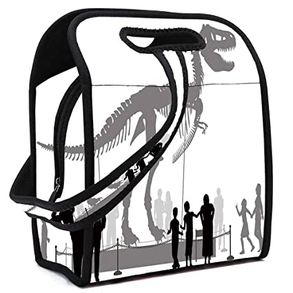 b2076827415a Amazon.com: Dinosaur Lightweight Neoprene Lunch Bag, Silhouettes of ...