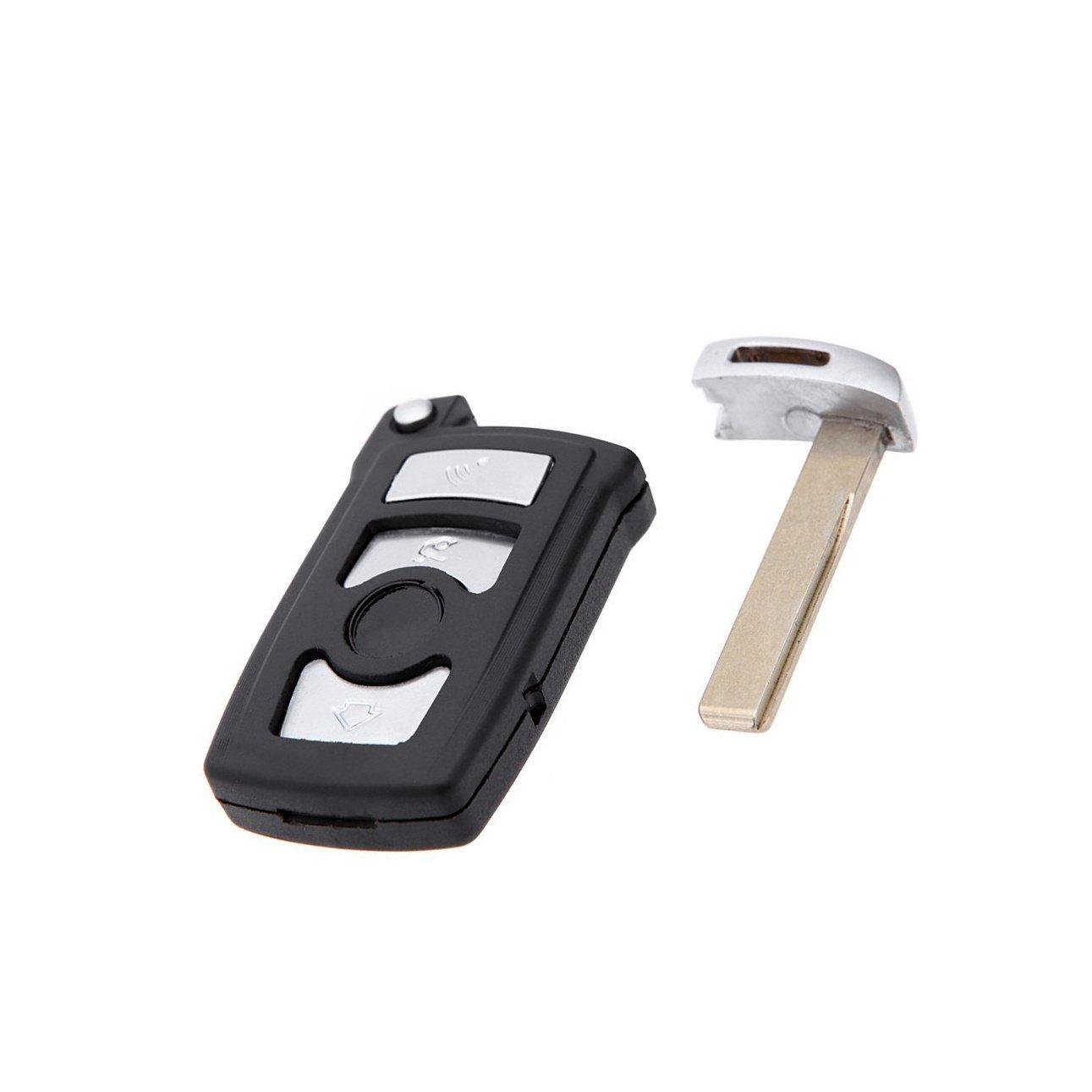 Replacement Uncut 4 Buttons Smart Key Shell Case Fob for BMW 745i 745Li 750i 750Li xDrive 760i 760Li 650i No Chip