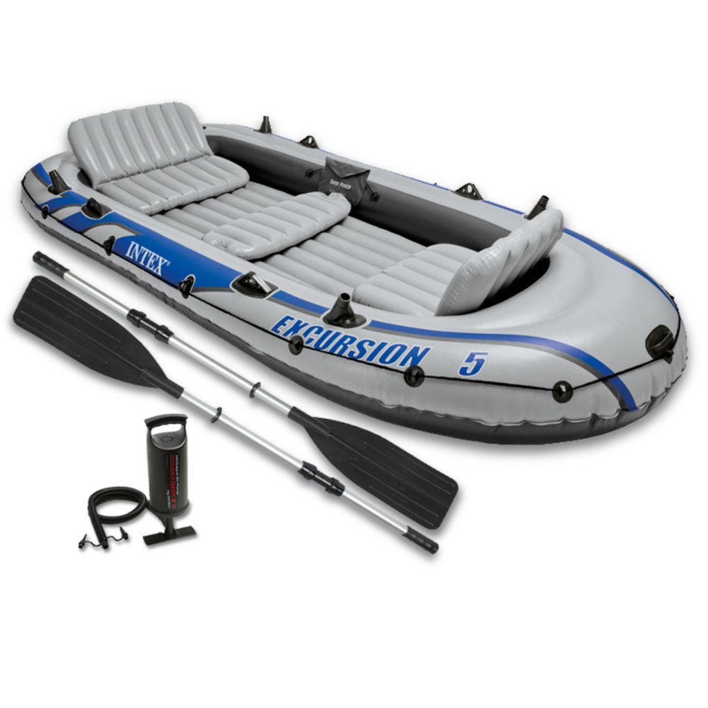 Intex Excursion 5 Set Schlauchboot Angelboot mit Paddel Pumpe 5 Personen 68325NP
