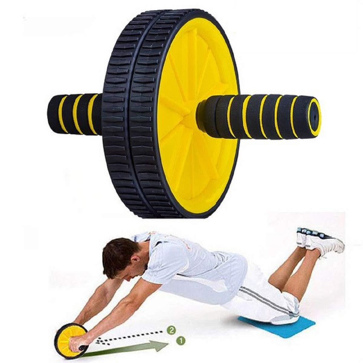 Buy Sidhmart Ab Roller Exercise Wheel for Home Gym, Fitness Equipment and  Accessories Online at Low Prices in India - Amazon.in