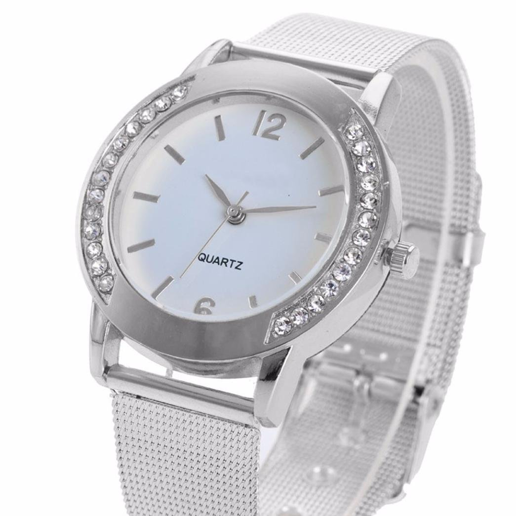 Amazon.com: Womens Watch,Fashion Crystal Stainless Bracelet Analog Quartz Business Watch Axchongery (Silver): Clothing