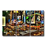 3 piece Wall Art Painting City Night Broadway Street Pictures Prints On Canvas City The Picture Decor Oil For Home Modern Decoration Print