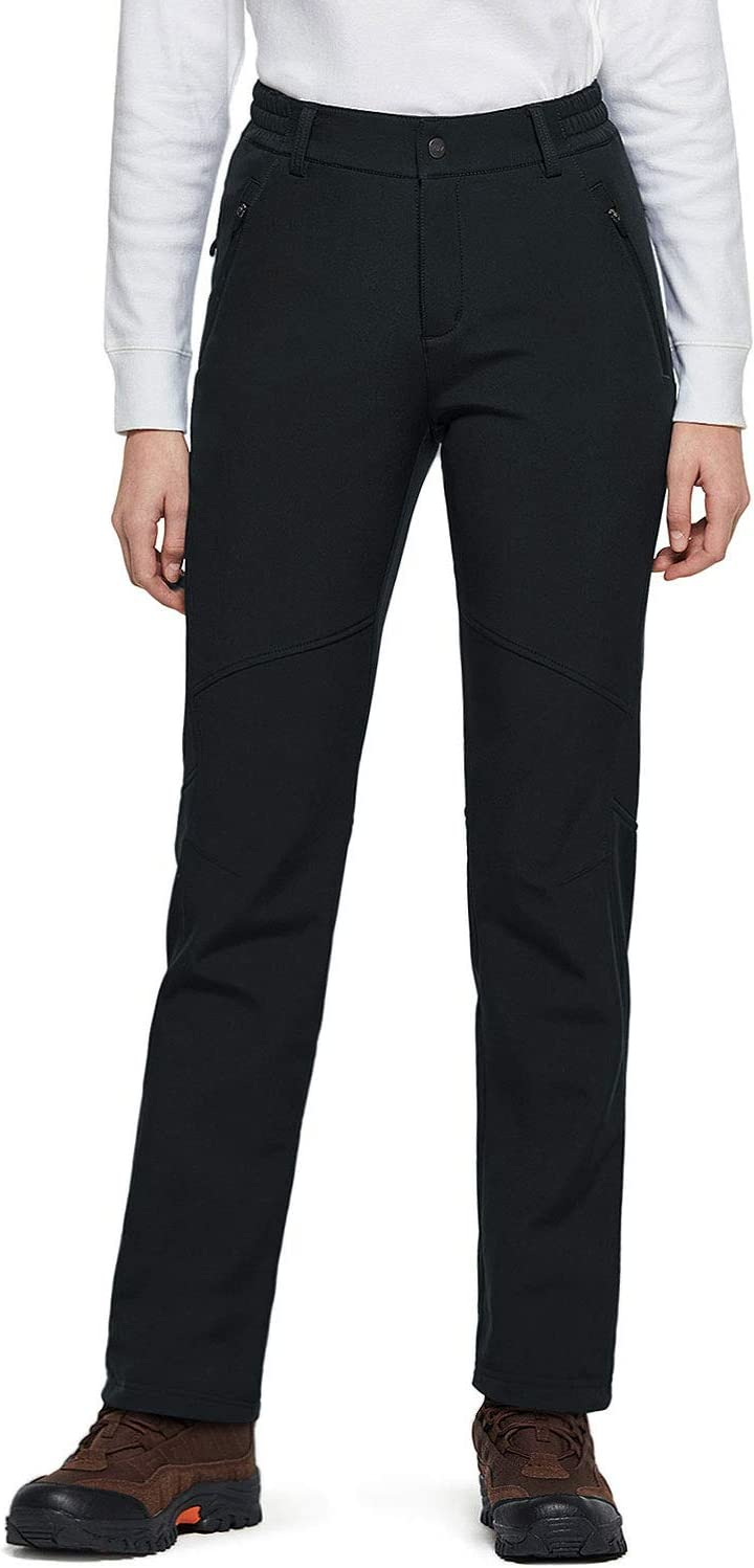 TSLA Womens Softshell Cargo Trousers Hiking Water Repellent Snow Winter Fleece Lined Bottoms