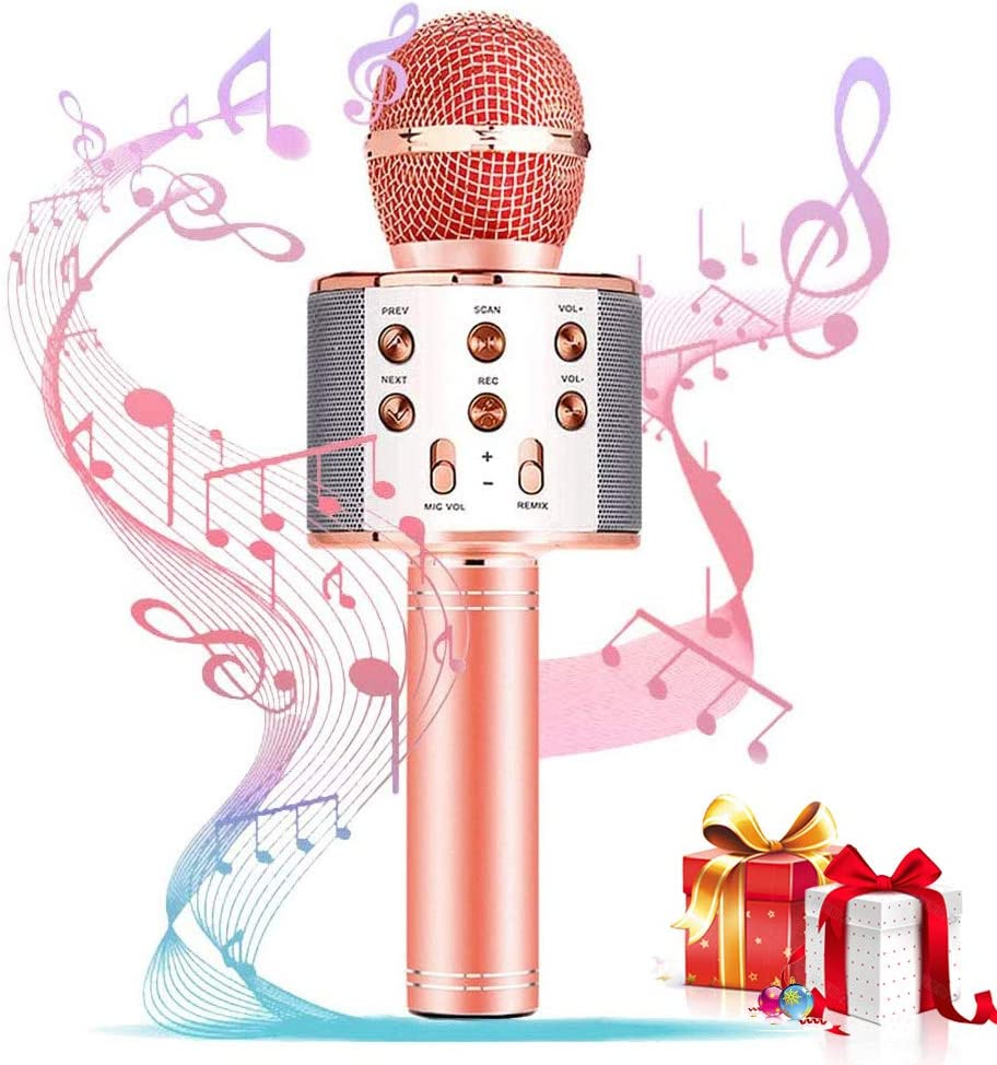 Amazon Com Girl Birthday Gift Toy Best Gift Presents For Girl Kid Boy Age 5 6 7 8 9 10 11 12 Years Old Wireless Bluetooth Microphone Karaoke Fun Toys For Teen Girls Boys Children