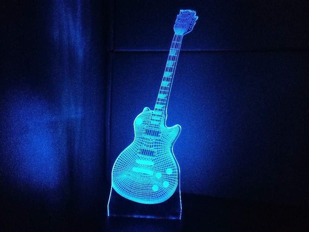 Forma de la guitarra 3d luz nocturna instrumentos musicales ...