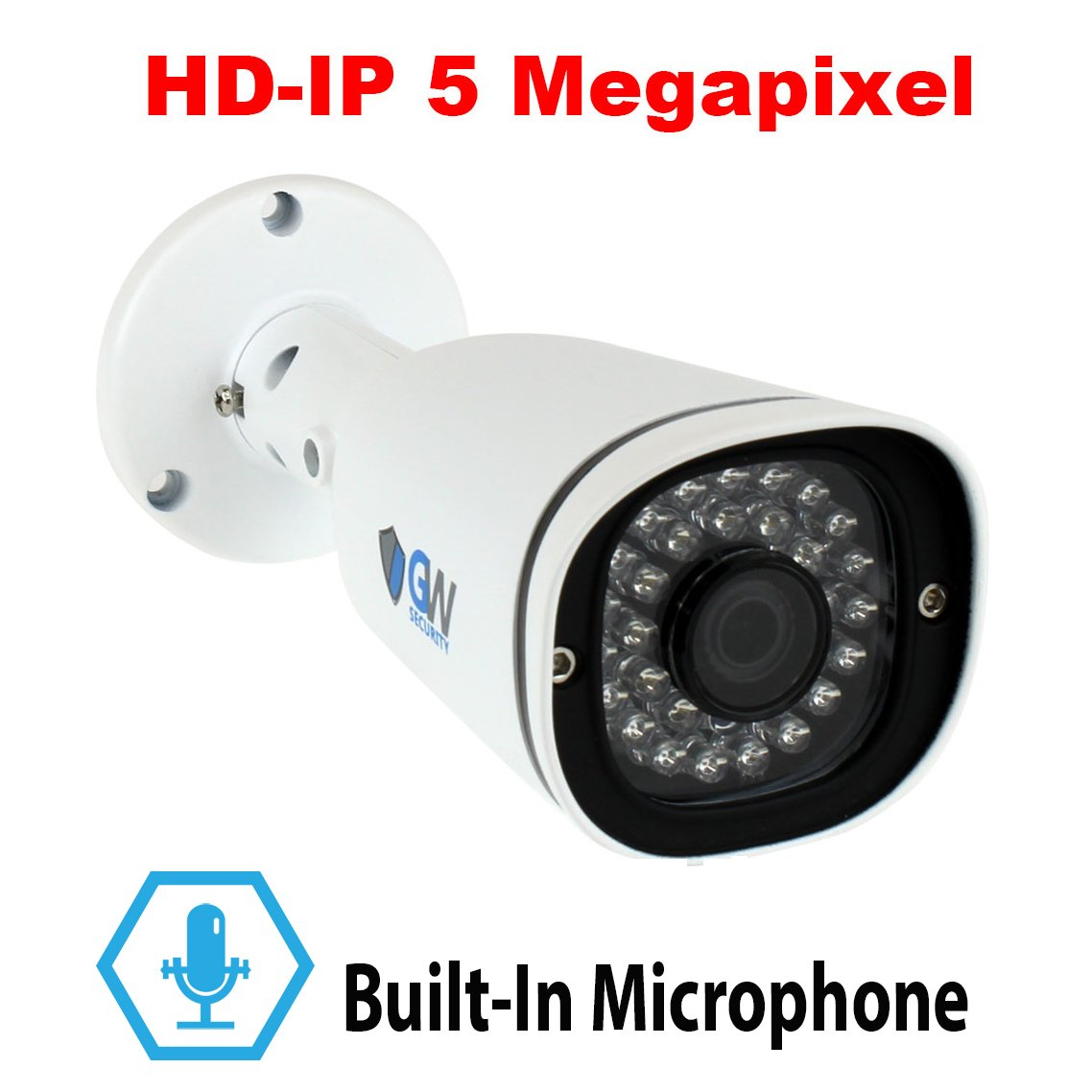 HD Bullet Camera CCTV Camera 1080P Security Cam with 3.6mm Wide View Angle Tool