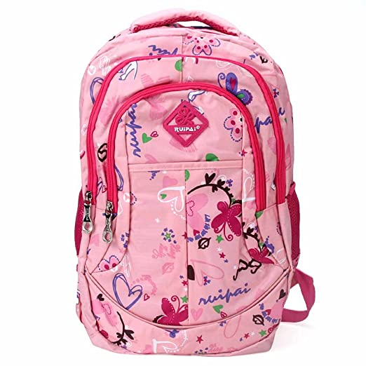 Vbiger Girl's & Boy's Backpack for Middle School Cute Bookbag Outdoor Daypack (Pink 1)