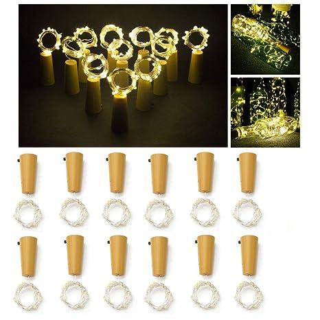 NetEraEU LED Corcho Luces para Botella, Decoración de la boda de cumpleaños de Navidad