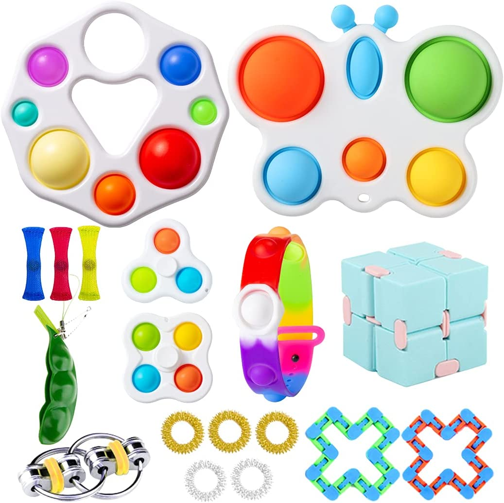 paerma Fidget Pop Simple dimple Cheap Toys Packs Sensory figetget Mini Toy Set for Kids Adults Relieves Stress and Anxiety figit Gifts Boxes. (Toy Set-s)