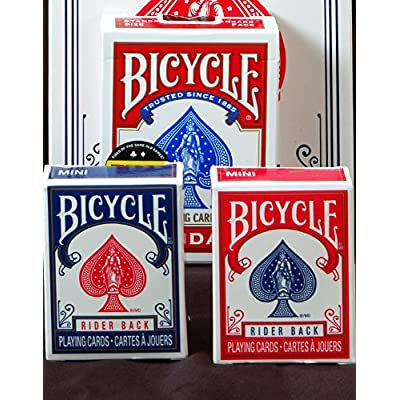 Bicycle Mini Decks Playing Cards - Single Deck (Color May Vary): Sports & Outdoors