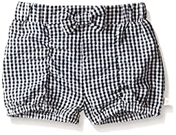 Rosie Pope Little Girls Gingham Rouched Bubble Short, Black/White, 18 Months