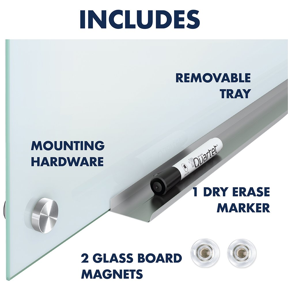 Quartet Glass Whiteboard, Magnetic Dry Erase White Board, 4' x 3', Infinity, White Surface (G4836W) by Quartet (Image #9)