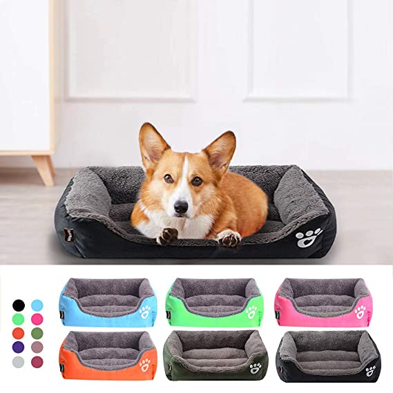 Amazon.com : D-4PET Beds&Mats - Waterproof Bottom Soft Fleece Warm Cat Bed House Cama Perro S-3XL 10 Colors Paw Pet Sofa Dog Beds : Pet Supplies