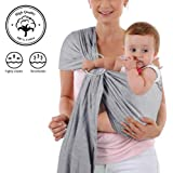 147e2eb4f98 4 in 1 Baby Wrap Carrier and Ring Sling - Charcoal Gray Cotton - Use as