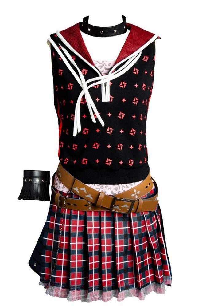 Final Fantasy XV FF 15 Iris Amicitia Kleid Uniform Cosplay Kostüm Damen XS SchwarzL
