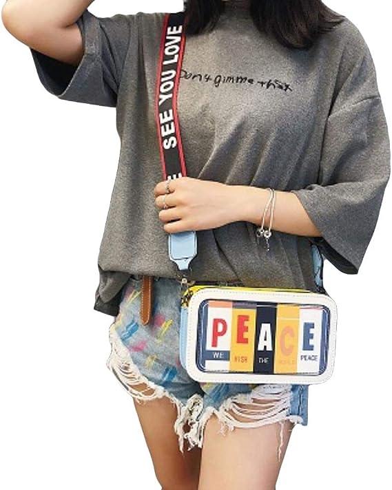 CceXia Women Handbag Small Chain Shoulder Crossbody Bag Flap Graffiti PU Leather Ladies Messenger Bags