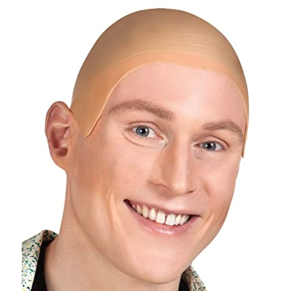 Amazon.com: Niceyo Rubber Bald Wig for Men or Women in Fancy ...