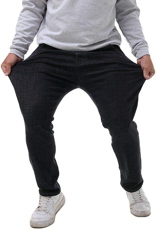 GUOCAI Mens Casual Loose Cotton Stretch Jeans Denim Pants