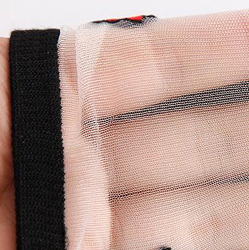 di corti paia 5 bianca di ricamata Superstore cotone Nero Koala calzini donna rosa da seta Calze Ra4FwnT