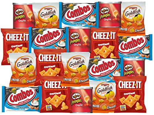 Cheeze-it, Pringles, GoldFish, Combos Snacks Refrigerator Restock Kit (Pack of 20)