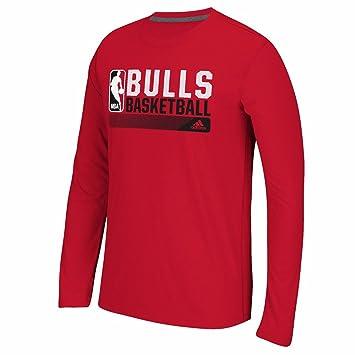 Adidas Chicago Bulls NBA Rojo Condición de Icono Climalite Rendimiento Manga Larga Camiseta para Hombre, XL, Rojo: Amazon.es: Deportes y aire libre
