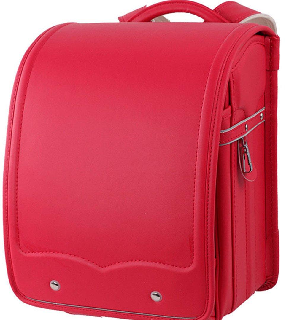 ZUOMA 新型 小学生 日式 バッグ 児童 圧力軽減 リュック 男女兼用 防水 ファッション 軽量 高品質 (レッド)  レッド B0746B2D62