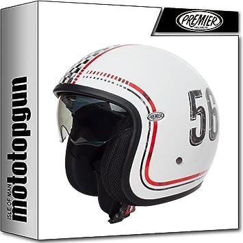 MOTOTOPGUN casco Premier Moto Jet Vintage FL 8 m