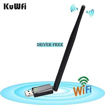KuWFi - Adaptador WiFi USB (150 Mbps, 5 dB), Compatible con ...