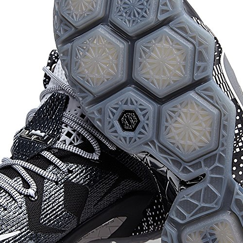 new styles e9e09 fa410 Nike LeBron 12 BHM - Black White Metallic Silver - 718825-001 - Import It  All