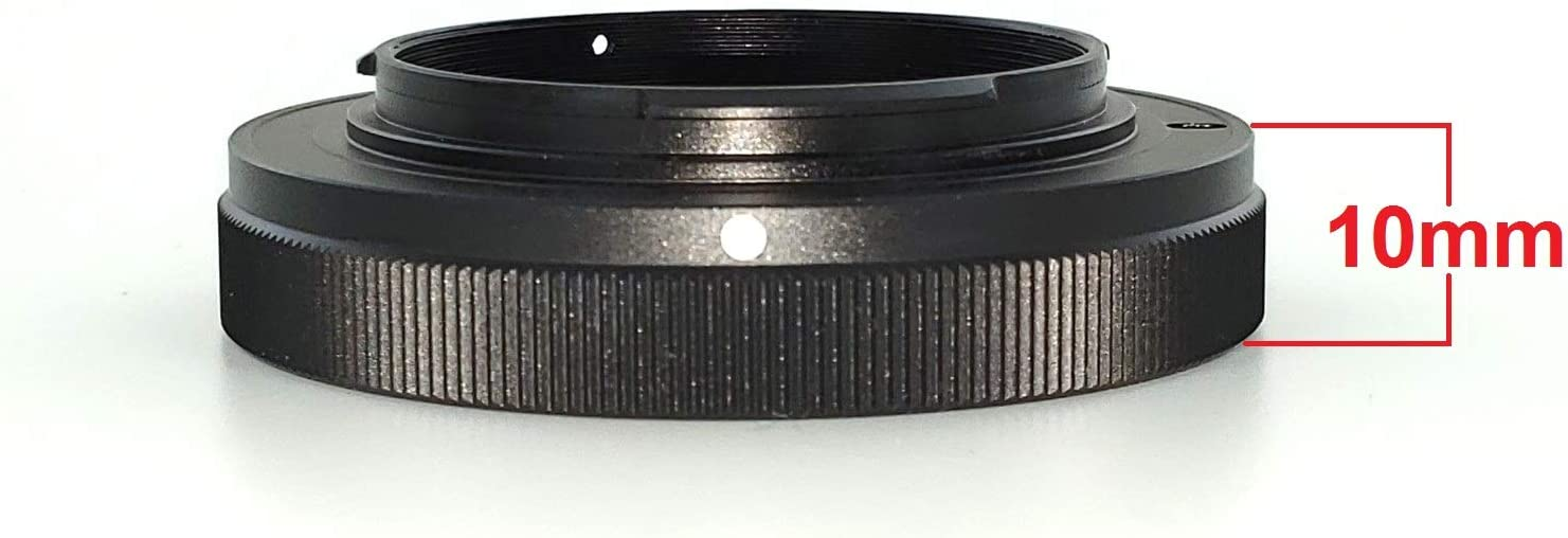 48mm /& Short MFT T-Ring for Olympus and Panasonic Micro 4//3 Micro 4//3 Wide Mirrorless Cameras 10mm