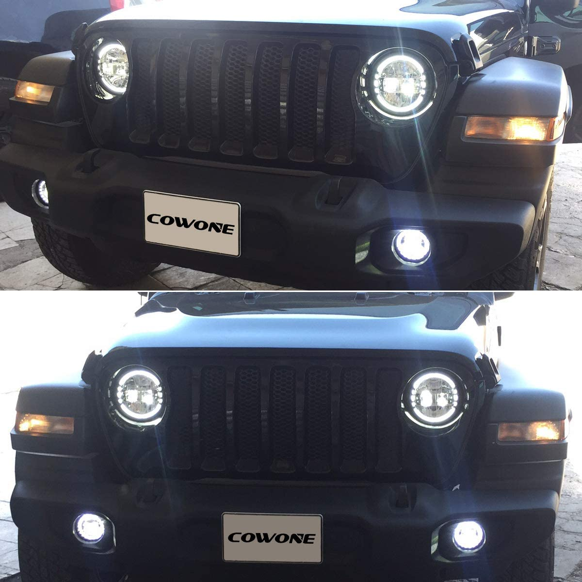 2020 Newest 7 inch Round LED Headlight Headlamps with Daytime Running Light DRL High Low Beam for Jeep Wrangler JK TJ LJ 97-2017 Hummber H1 H2