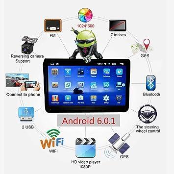"""xluckx Reproductor Multimedia para Coche 9"""" Pulgadas Full HD1080P Pantalla táctil autoradio Navegador GPS Coche"""