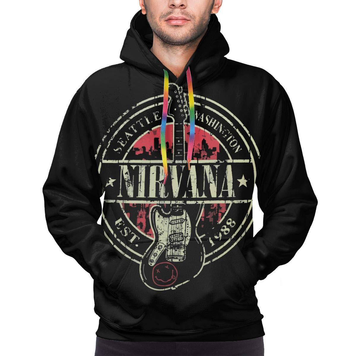 Fashion Drug Hoodies Men/'s Nirvana Long Sleeve Athletic Sweatshirt Pullover with Pocket