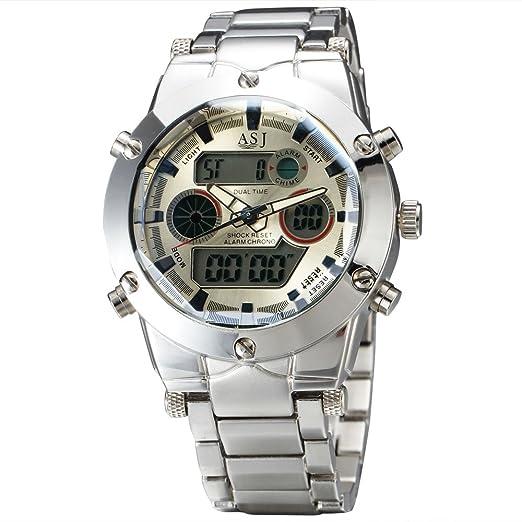 ASJ nuevo relojes hombres marca de lujo asg6 Hombres del cuarzo LED Digital reloj Hombre ejército Militar deporte reloj de pulsera Relogio Masculino regalo: ...