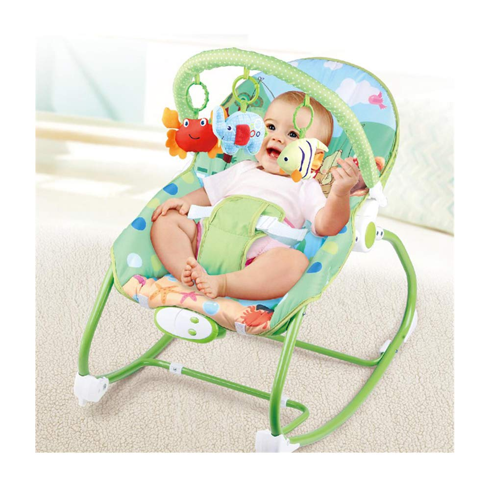 JFMBJS Baby Bouncer, Electric Rocker Chair Soothing Vibration for New-Born, Rocking Chair Comfort Toy with Adjustable Seat Belt by JFMBJS
