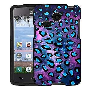 LG Lucky Case, Snap On Cover by Trek Blue Leopard on Nebula Case