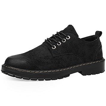 Easy Go Shopping Botines para Hombre Zapatos Redondos de Estilo británico Resistentes al Desgaste Estilo británico Martin (Color : Negro, tamaño : 39 EU): ...