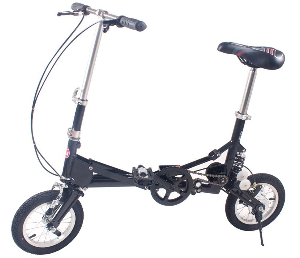 (デイリー スウィート)Daily Sweet  折りたたみ自転車 収納バッグ付き 12インチ 小型 小径 街乗り 通勤 通学等に便利 B074H222T4 黒 黒