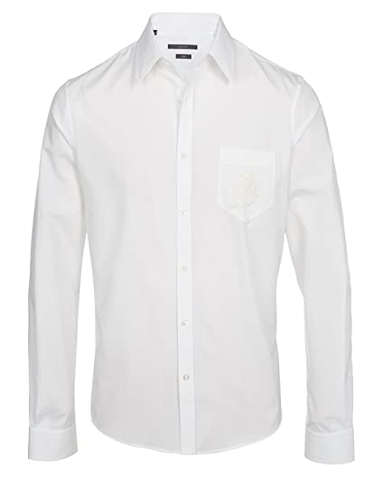 Gucci - Camisa formal - Camisa - para hombre Weiß 45: Amazon.es ...