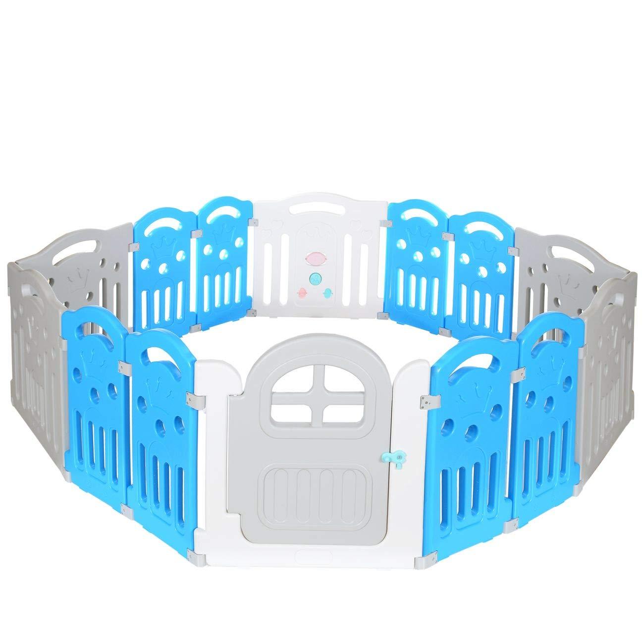 LCP Kids Corral XL Parque de juegos infantil con gran elemento con integrados Juguetes/bebé barrera de seguridad - EN 71 certificado 534