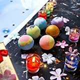 #1: Bath Bombs Gift Set,USA-6 Large Ball Natural Essential Oils Ultra Lush SPA Fizzies,Shea Coco Butter Moisturize Dry Skin,Aromatherapy Bath-Best Gift for Birthday/Christmas/Women/Girlfriend/Men/Kids/Mom