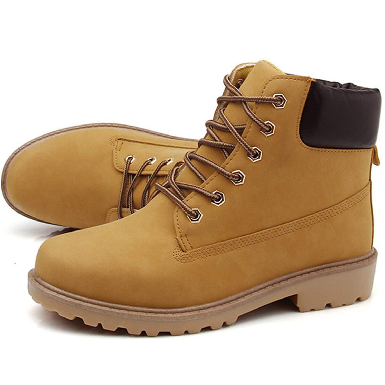 Hombres de Invierno Botas PU Botines de Nieve Al Aire Libre con Cordones Hombre Botines Antideslizantes Británicos Martin Zapatos Más Tamaño 46 Zapatos De ...