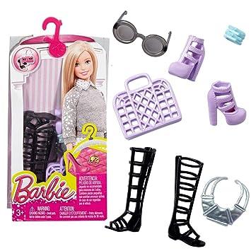 Joyas Juegos es Zapatos Y Para Bolsos Accesorios Mattel Barbie Muñeca Dhc53 Juguetes Set Amazon I4gf4