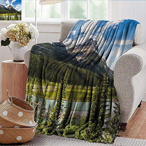 (Xaviera Doherty Weighted Blanket Landscape,Spring Canadian Day Luxury Flannel Throw Blankets for Bed(Lightweight,Super Soft) 35